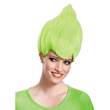 Adult Green Wacky Troll Costume Wig