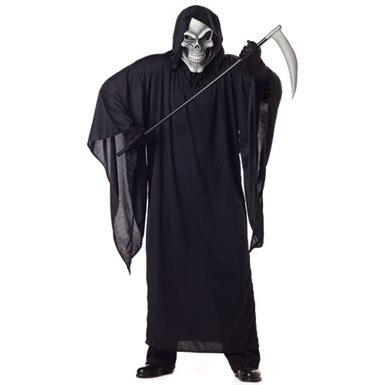 Adult Grim Reaper Big & Tall Halloween Costume 48-52