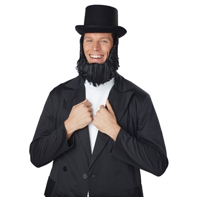 Adult Honest Abe Halloween Getup