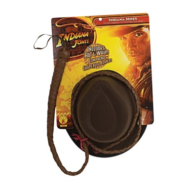 Adult Indiana Jones Whip - and Hat