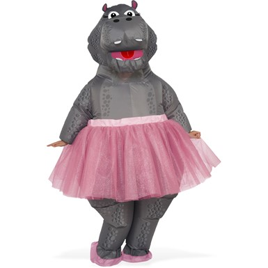 Adult Inflatable Hippo Ballerina Costume