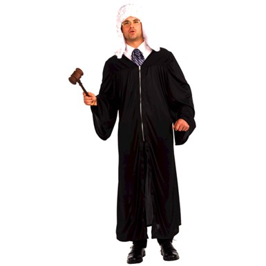 Adult Judge Robe Law Halloween Mens Costume up to 42