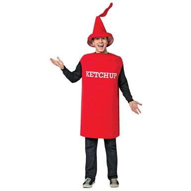 Adult Ketchup Squirt Bottle Halloween Costume