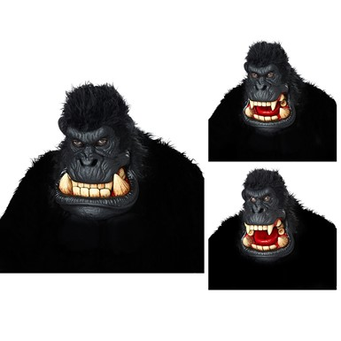 Adult Killa Gorilla Ani-Motion Halloween Mask