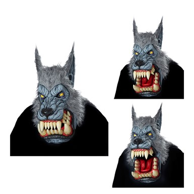 Adult Lunar Psycho Ani-Motion Werewolf Halloween Mask