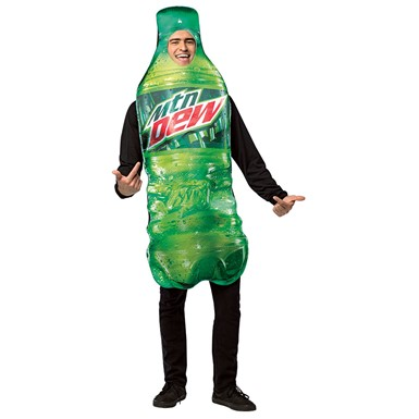 Adult Mountain Dew Bottle Halloween Costume