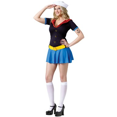 Adult Ms. Popeye TV Superhero Cartoon Halloween Costume