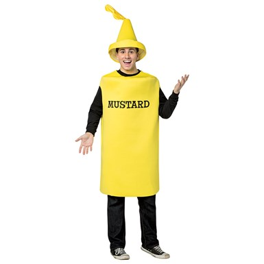 Adult Mustard Squirt Bottle Halloween Costume