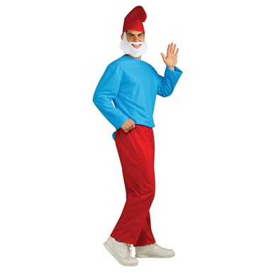 Adult Papa Smurf The Lost Village Costume