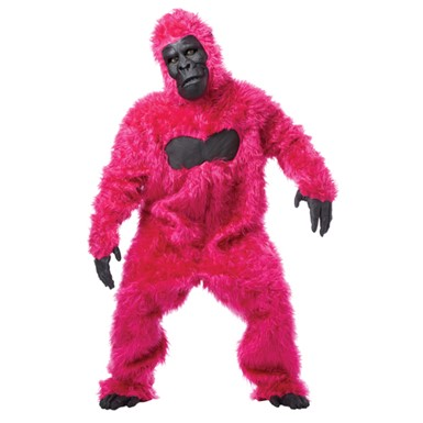 Adult Pink Gorilla Suit Costume