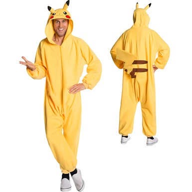 Adult Pokemon Pikachu Cozy Onesie Costume
