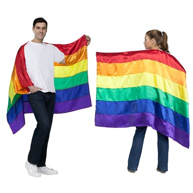 Adult Pride Flag Rainbow Costume Cape