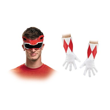 Adult Red Power Ranger Accessory Kit