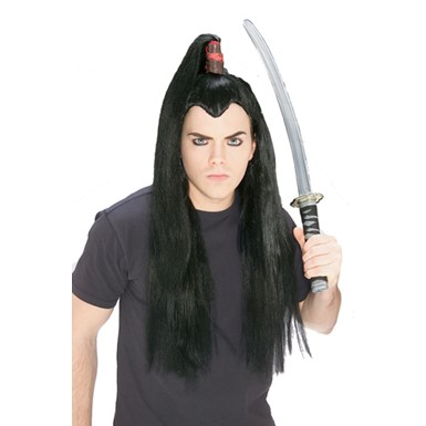 Adult Samurai Wig - Black