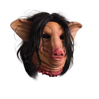 Adult Saw Deluxe Pig Face Latex Mask