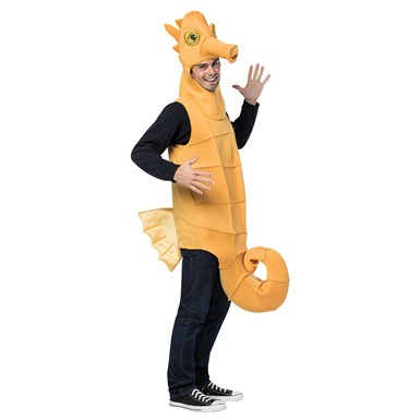 Adult Seahorse Mascot Halloween Costume