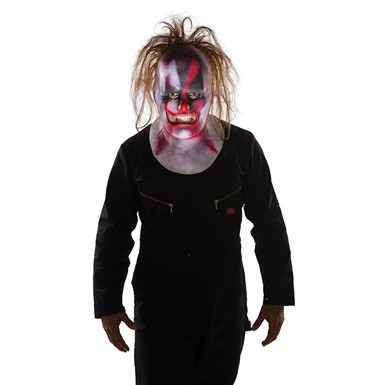 Adult Slipknot Clown Full Mask with Hair