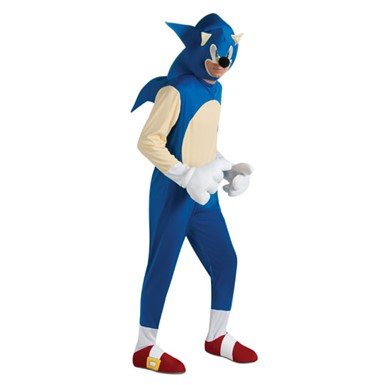 Adult Sonic The Hedgehog Video Game Halloween Costume