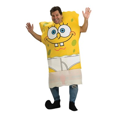 Adult Spongebob Halloween Costume - Dropdown Front