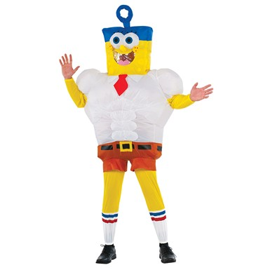 Adult Spongebob Inflatable Invincibubble Sz Standard Costume