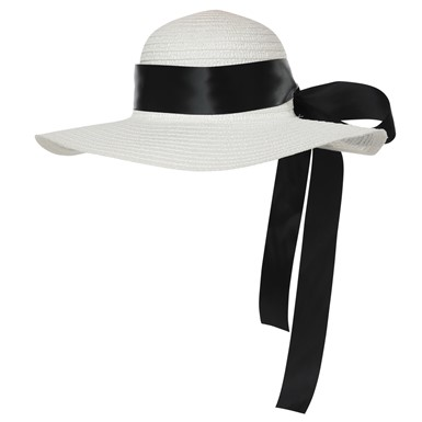 Adult Straw Hat with Ribbon Accessory