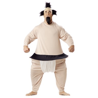 Adult Sumo Wrestler Bodysuit Halloween Costume