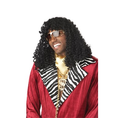 Adult Supa' Freakin Black Wig for Halloween Costume
