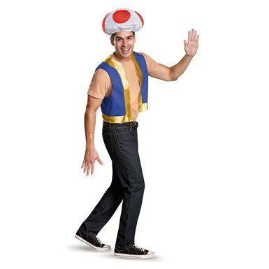 Adult Super Mario Toad Halloween Kit