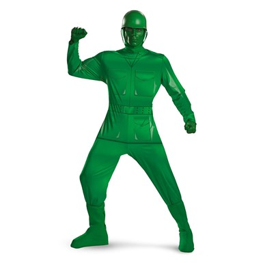 Adult Toy Story Green Army Man Deluxe Costume XXL