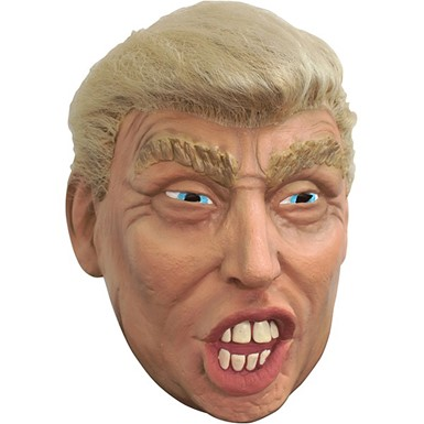 Adult Trump Halloween Mask with Hair