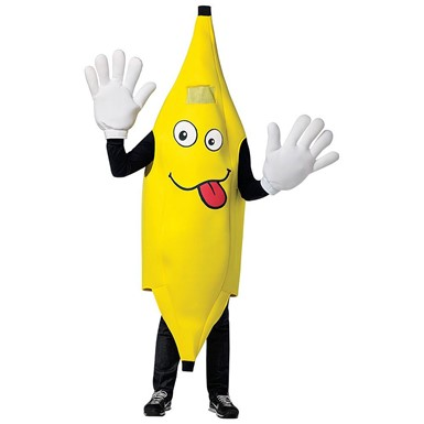 Adult Waving Banana Mascot Costume