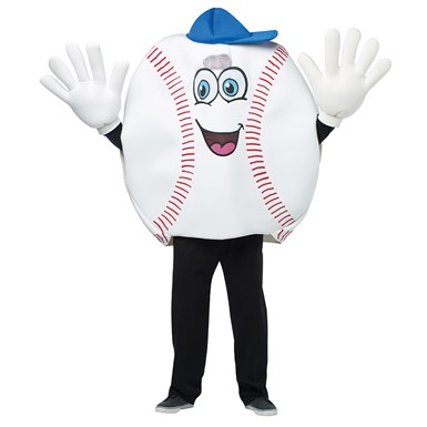 Adult Waving Baseball Mascot Costume