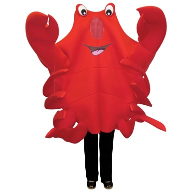 Adult Waving Crab Mascot Halloween Costume