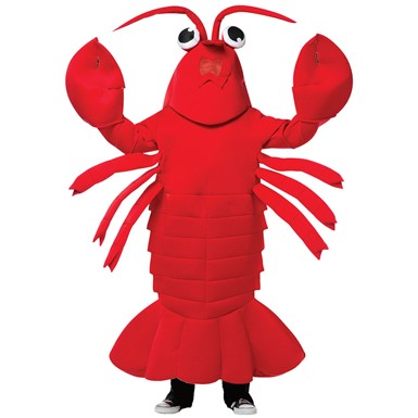 Adult Waving Lobster Mascot Halloween Costume