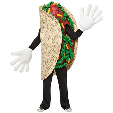 Adult Waving Taco Mascot Halloween Costume