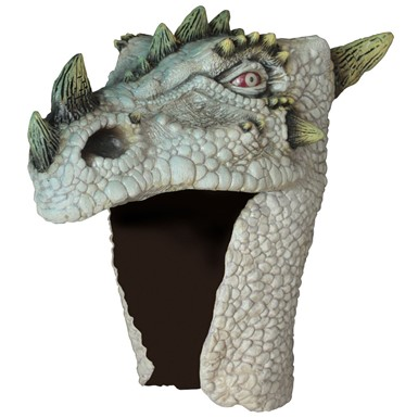 Adult White Albino Dragon Halloween Helmet