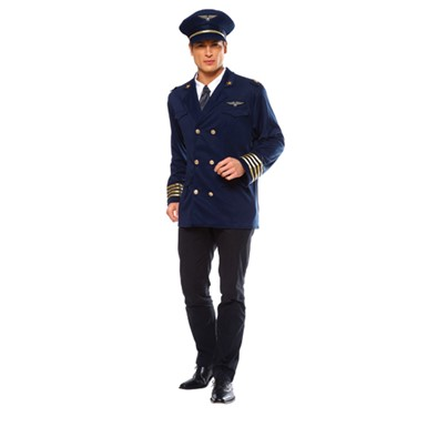 Airline Pilot Adult Mens Halloween Costume