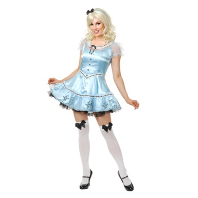Alice Womens Sexy Sky Blue Halloween Costume