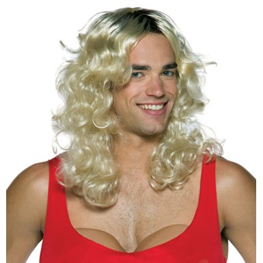 Anita Touch-Up Blonde Wig for Actress Halloween Costume