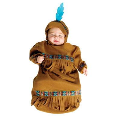 Baby Papoose Bunting Indian Native American Costume