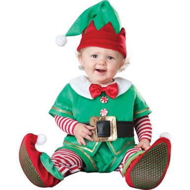 Baby Santa's Elf Christmas Halloween Costume