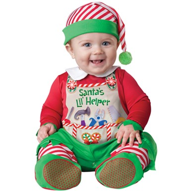 Baby Santa's Little Helper Christmas Halloween Costume