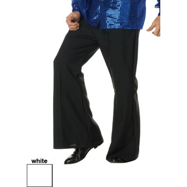Bell Bottom Pants - 70's Dance Fever - White