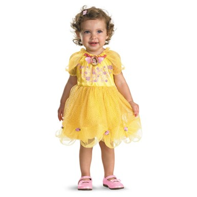 Belle Disney Girls 12-18 Months Yellow Costume Dress