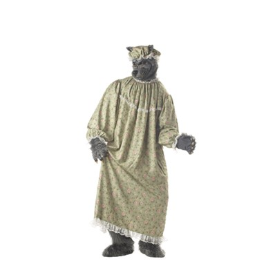 Big Bad Wolf Granny Adult Mens Halloween Costume