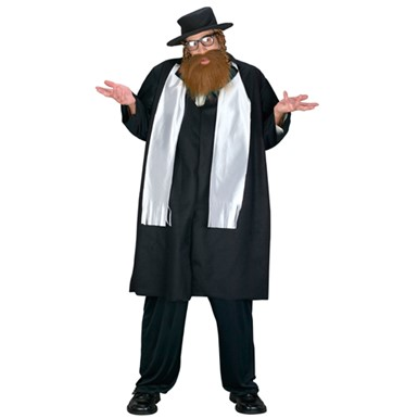 Big & Tall Rabbi Mens Halloween Costume