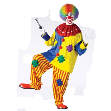 Big Top Clown Funny Circus Joker Adult Halloween Costume