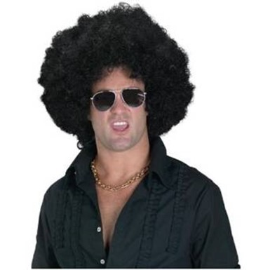 Black Afro Wig - Enormous W/ Pick