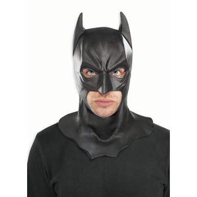 Black Batman Full Adult Mask Halloween Accessory