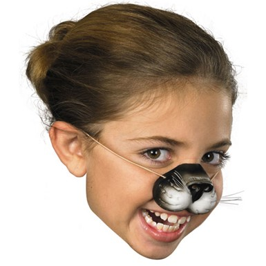 Black Cat Nose for Kitty Halloween Costume